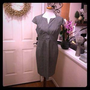 Beautiful Plaid Black& White Adrianna Papell Dress